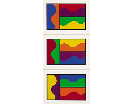 Colors Divided By Wavy Lines - Lewitt, Sol