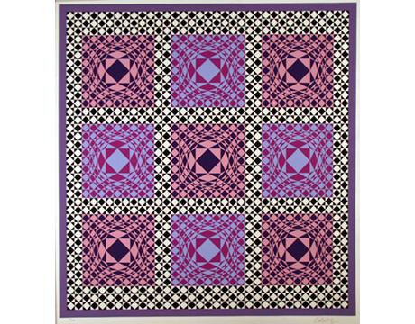 Purple Squares - VASARELY, VICTOR